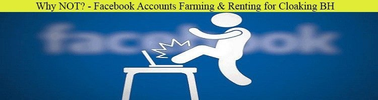 Why NOT? - Facebook Accounts Farming & Renting for Cloaking BH
