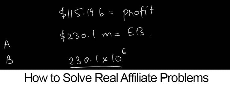 Affiliate Marketing Problem Solving 101