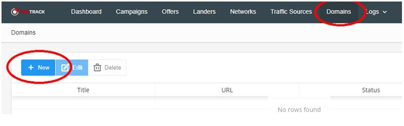 , Setting up Domain on RedTrack