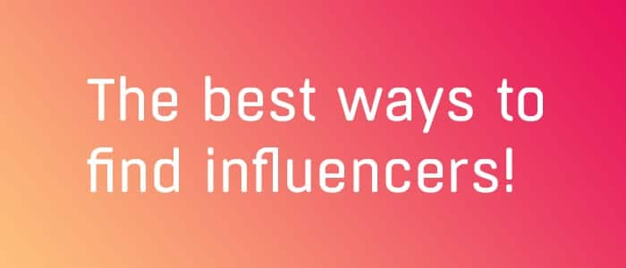 best way to find influencers for dropshipping