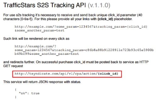 trafficstars s2s api for better tracking with redtrack